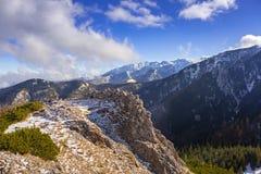 Scenery of Tatra mountains at winter. Poland Royalty Free Stock Photos