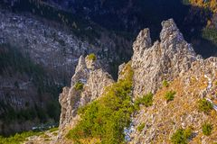 Scenery of Tatra mountains at winter. Poland Royalty Free Stock Images