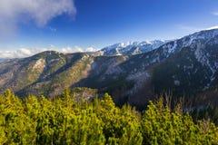 Scenery of Tatra mountains at winter. Poland Royalty Free Stock Photography