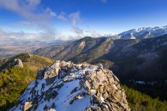 Scenery of Tatra mountains at winter. Poland Stock Photo