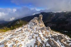 Scenery of Tatra mountains at winter. Sarnia Skala peak in Tatra mountains at winter, Poland Royalty Free Stock Photo