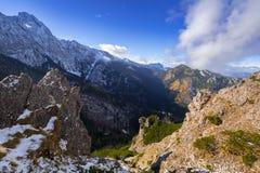 Scenery of Tatra mountains at winter. Sarnia Skala peak in Tatra mountains at winter, Poland Royalty Free Stock Photos
