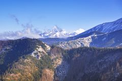 Scenery of Tatra mountains at winter. Poland Stock Images