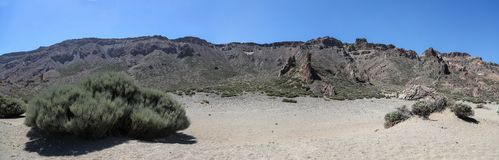 Scenery in Teide National Park in Tenerife Royalty Free Stock Images