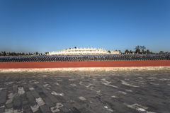 The scenery of Temple of Heaven. The circular round against blue sky, Temple of Heaven, Beijing Royalty Free Stock Image