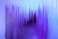 Ice cave. The scenery of Ten Thousand Ice Cave in Ninwu, Shanxi, China royalty free stock photos