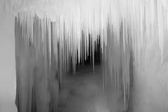 Rieseneishoehle. The scenery of Ten Thousand Ice Cave in Ninwu, Shanxi, China Royalty Free Stock Photo