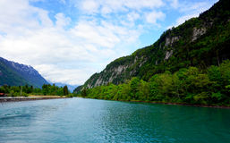 Scenery of Thun Lake Interlaken, Switzerland Royalty Free Stock Photo