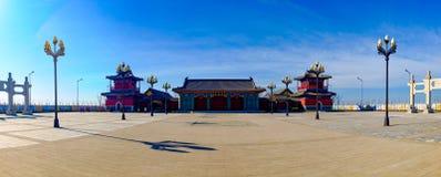 The scenery of Tianjin Mazu cultural park. March 13, 2017, Tianjin, China,The new Tianjin eco city of Tianjin Binhai Mazu Culture Park is located in Tianjin Stock Photo
