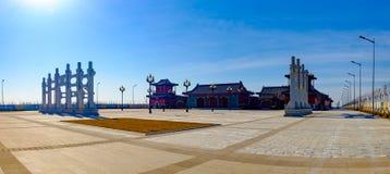The scenery of Tianjin Mazu cultural park. March 13, 2017, Tianjin, China,The new Tianjin eco city of Tianjin Binhai Mazu Culture Park is located in Tianjin Stock Photography