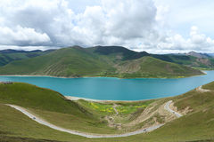 Yamdrok Lake in Tibet. The lake by tibetans as The sacred lake, name is yangzhuoyongcuo.Tibetan plateau is the highest elevation in the world area, known as the Royalty Free Stock Images