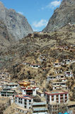 Scenery of a Tibetan village Stock Image