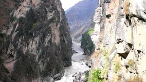Scenery of Tiger Leaping Gorge. stock video