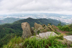 The scenery on the top of the Yangtai Mountain Stock Image