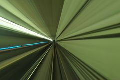 Scenery of tunnel from the moving train Royalty Free Stock Photos