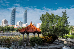 Scenery of Twin Towers in Xiamen City Stock Photography