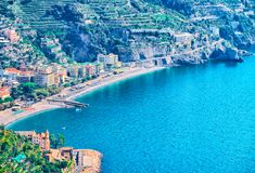 Scenery with Tyrrhenian sea in Ravello village Stock Images