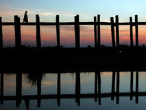 Scenery of Ubein Bridge Stock Photos