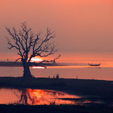Scenery of Ubein Bridge Stock Images