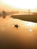 Scenery of Ubein Bridge Royalty Free Stock Images