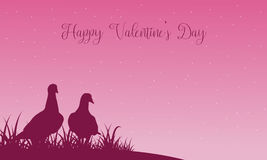 Scenery of valentine theme with dove Stock Photos
