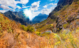 Scenery valley in Spain.Nature landscape.Travel adventures and o Stock Photos