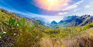 Scenery valley in Spain.Nature landscape.Travel adventures and o Royalty Free Stock Photography