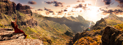 Scenery valley in Spain.Nature landscape.Travel adventures and outdoor lifestyle. Royalty Free Stock Image