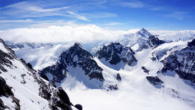 Scenery of Valley Titlis snow mountains Stock Photography