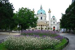 The scenery of Vienna City stock images