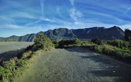 Scenery view of bromo mountain tengger east java indonesia royalty free stock images