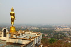 Scenery view golden Buddha Stock Photo