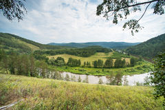 Scenery view of river Belaya Royalty Free Stock Image