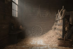Scenery in the village barn studio Royalty Free Stock Photography