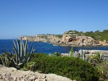Scenery on the way to the bathing bay Cala de Moro, Mallorca Stock Images