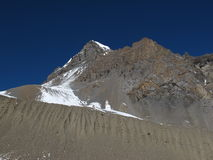Scenery on the way to Thorung La Pass Royalty Free Stock Images