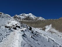 Scenery on the way to Thorung La Pass Royalty Free Stock Image