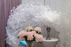 Decoration for the wedding festival in Ukraine Stock Photo