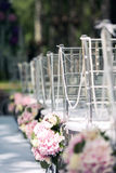 Scenery for wedding registration outdoors Stock Photos