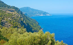 Scenery on the west coast. From viewopoint in Mallorca, Balearic islands, Spain in July Royalty Free Stock Photography