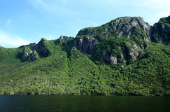 Scenery at Western Brook Pond Royalty Free Stock Image
