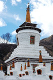 Scenery of white pagodas in a lamasery Stock Image