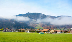 Scenery of Wilderswil village in the morning Royalty Free Stock Photo