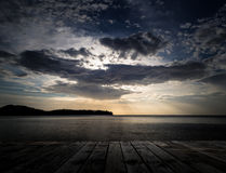 Scenery of the wooden pier Stock Photos