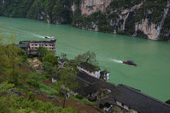 Scenery in Wu River Gorge Royalty Free Stock Photos