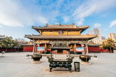 Scenery of Wuta Temple in Hohhot, Inner Mongolia, China stock images