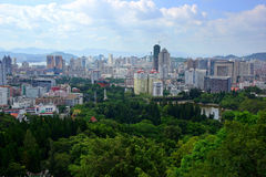 The scenery of Xiamen, modern city in China Royalty Free Stock Image
