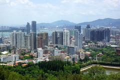 The scenery of Xiamen, modern city in China Stock Photography