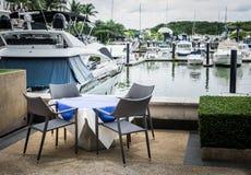 Scenery at yacht marina Stock Photos