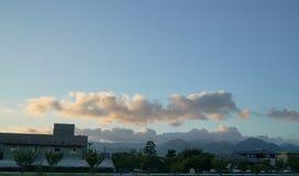 The scenery of Yamaguchi City. The view from Yamaguchi University Royalty Free Stock Photos
